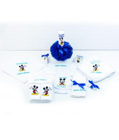 Set trusou botez Mickey Mouse bleo - 2