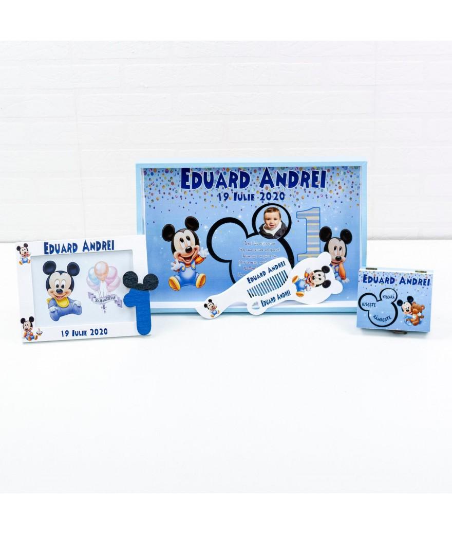 Set mot Baby Mickey Mouse Albastru - 1