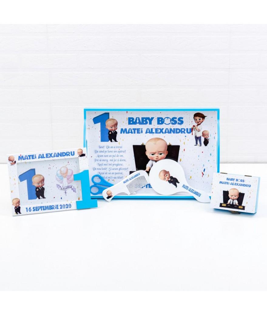 Set mot Baby Boss confetti - 1