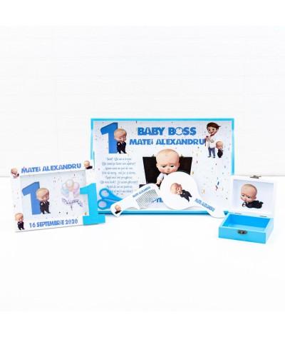 Set mot Baby Boss confetti - 2