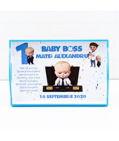 Set mot Baby Boss confetti - 3