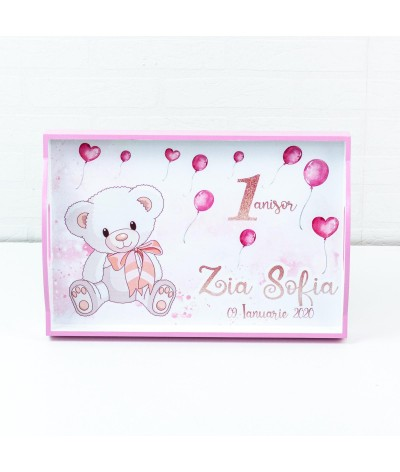 Set mot Ursulet delicat roz - 2