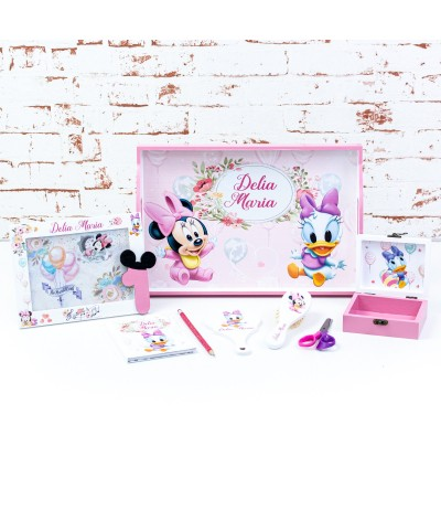 Set mot Minnie si Daisy baloane pastelate - 2