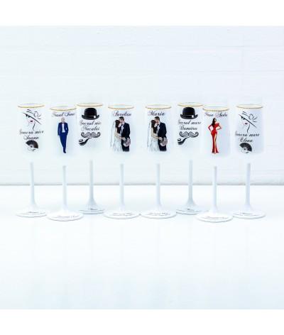 Set pahare Nunta Siluete 10 - 1