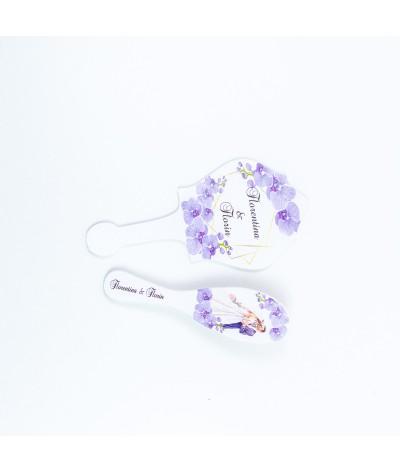 Set gatitul miresei Orhidee Mov - 3