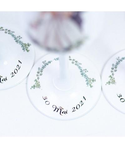 Set pahare Nunta Frunze Eucalipt1 - 3