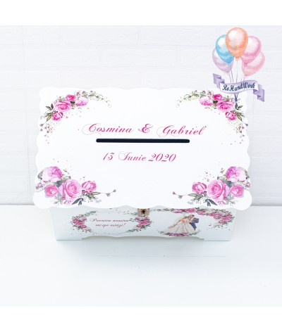Cufar nunta trandafiri rosii (150-200 plicuri) - 3