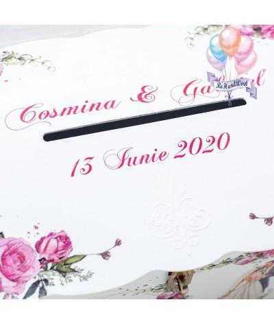 Cufar nunta trandafiri rosii (150-200 plicuri) - 2