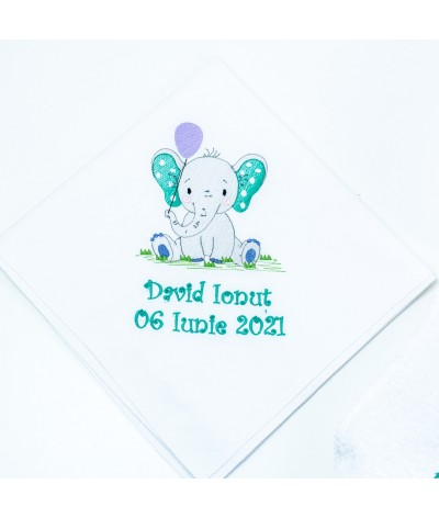 Set trusou botez Elefantel cu baloane Gri - 4