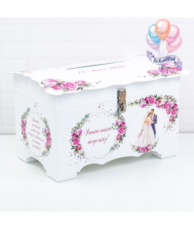Cufar nunta trandafiri rosii (150-200 plicuri) - 1