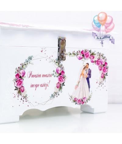 Cufar nunta trandafiri rosii (150-200 plicuri) - 5