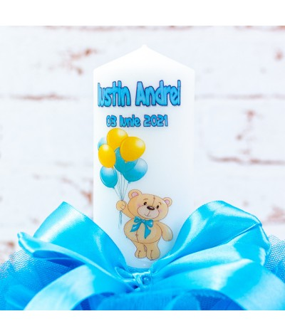 Set trusou botez Ursulet cu baloane 1 - 8