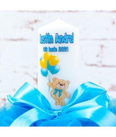 Lumanare botez tull Ursulet cu baloane - 3