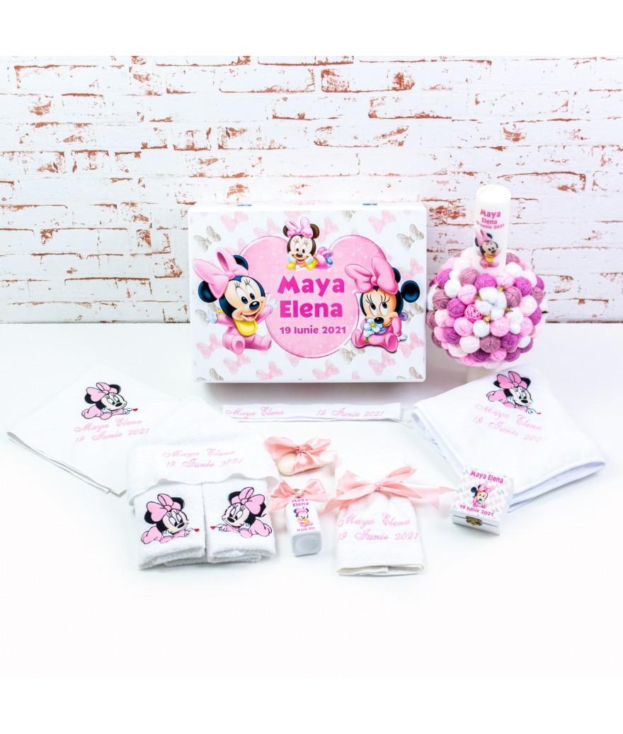 Set trusou botez Baby Minnie roz - 1