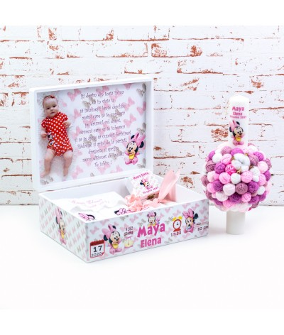 Set trusou botez Baby Minnie roz - 2