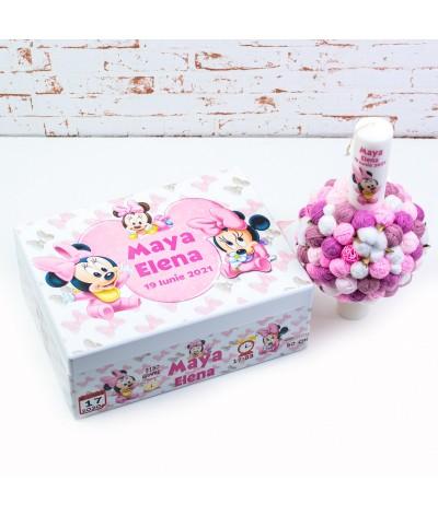 Set trusou botez Baby Minnie roz - 3
