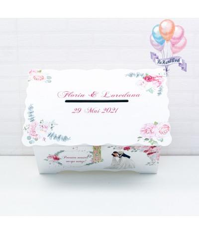 Cufar nunta cu trandafiri (150-200 plicuri) - 6