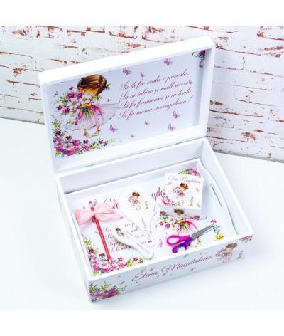 Set mot/turta Fetita roz delicata - 3