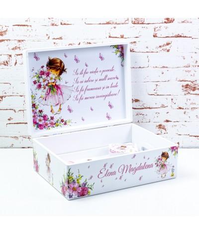 Set mot/turta Fetita roz delicata - 4