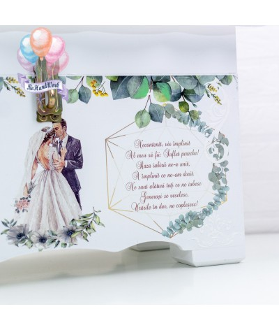 Cufar nunta cu frunze de eucalipt (150-200 plicuri) - 4