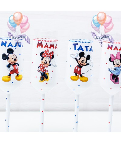Set pahare botez Mickey mouse - 2