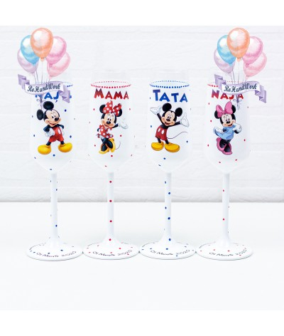 Set pahare botez Mickey mouse - 1