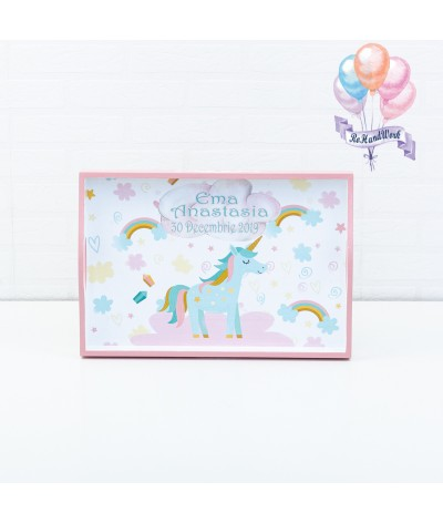 Set mot/turta Unicorn roz - 3